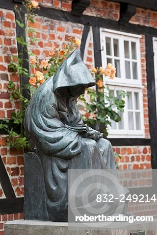 Franciscan monk, Stade, Altes Land, Lower Saxony, Germany, Europe