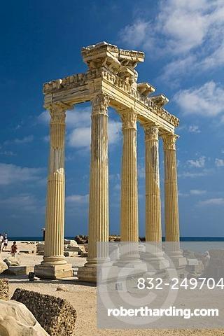 Ruins of the Apollon Temple in Side, Turkish Riviera, Turkey, Asia