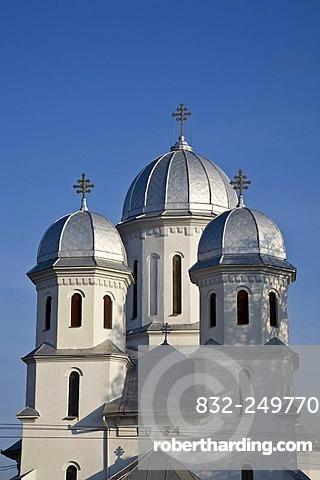 Romanian orthodox church, cupola, Huedin, Cluj, Transylvania, Romania, Europe