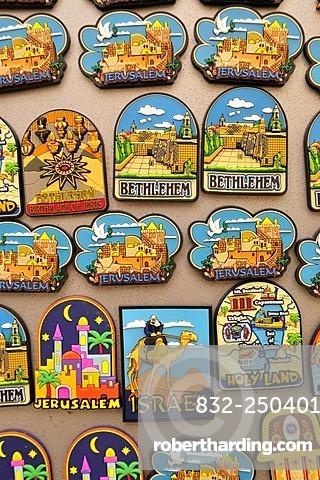 Christian devotional objects in a souvenir shop in Em Kerem, by Jerusalem, Israel, Middle East, the Orient