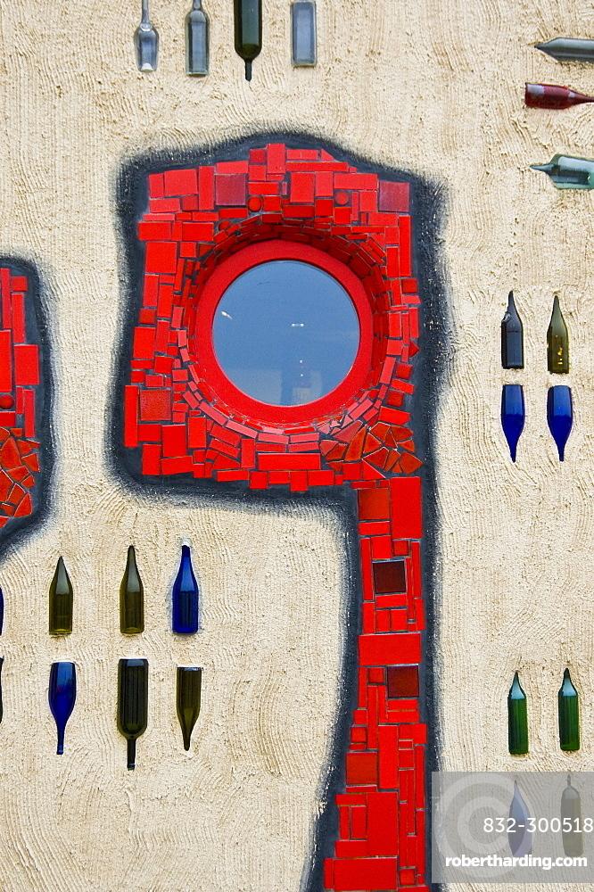 Art designed by painter/sculptor Hundertwasser, Altenrhein Market Hall, Thal, St. Gallen, Switzerland, Europe