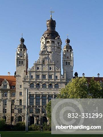 New Town Hall Leipzig Saxony Stock Photo