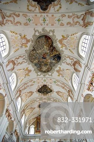 Ceiling painting, Jesuit Church, Lucerne, Switzerland