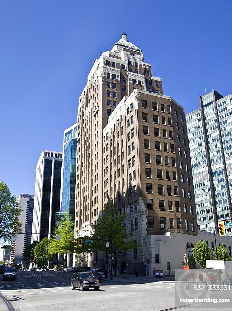 Vancouver Marine Building on Granville Street, Vancouver, British Columbia, Canada, North America