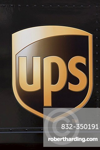 The company logo of the United Parcel Service (UPS)