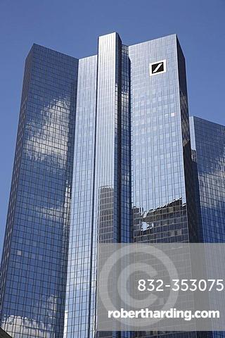 Deutsche Bank, office tower block, corporate headquarters, Frankfurt am Main, Hesse, Germany, Europe