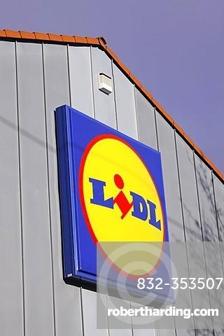 Lidl discount supermarket company sign