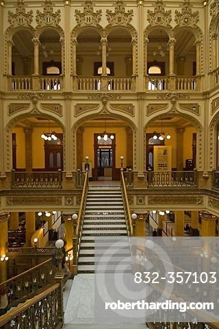 Historic main postoffice in Mexico City, Mexico