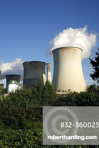 Cooling towers, nuclear power plant Weisweiler, North Rhine-Westphalia, Germany