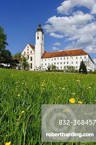 Parish church Mariae Himmelfahrt, Mary Assumption, Dietramszell, Upper Bavaria, Bavaria, Germany, Europe