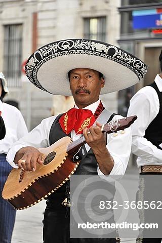 Mexican musician, Puerta del Sol, Madrid, Spain, Europe