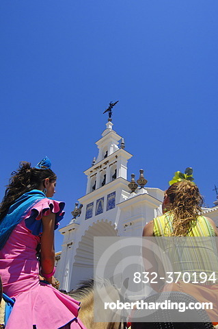 Pilgrims at El Rocio village,