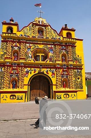 San Andres Xecul church, Guatemala, Central America