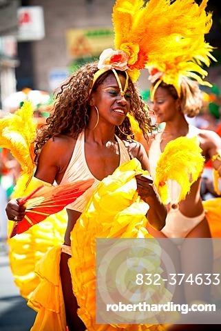 Female samba dancer, Samba Festival, Coburg, Bavaria, Germany, Europe