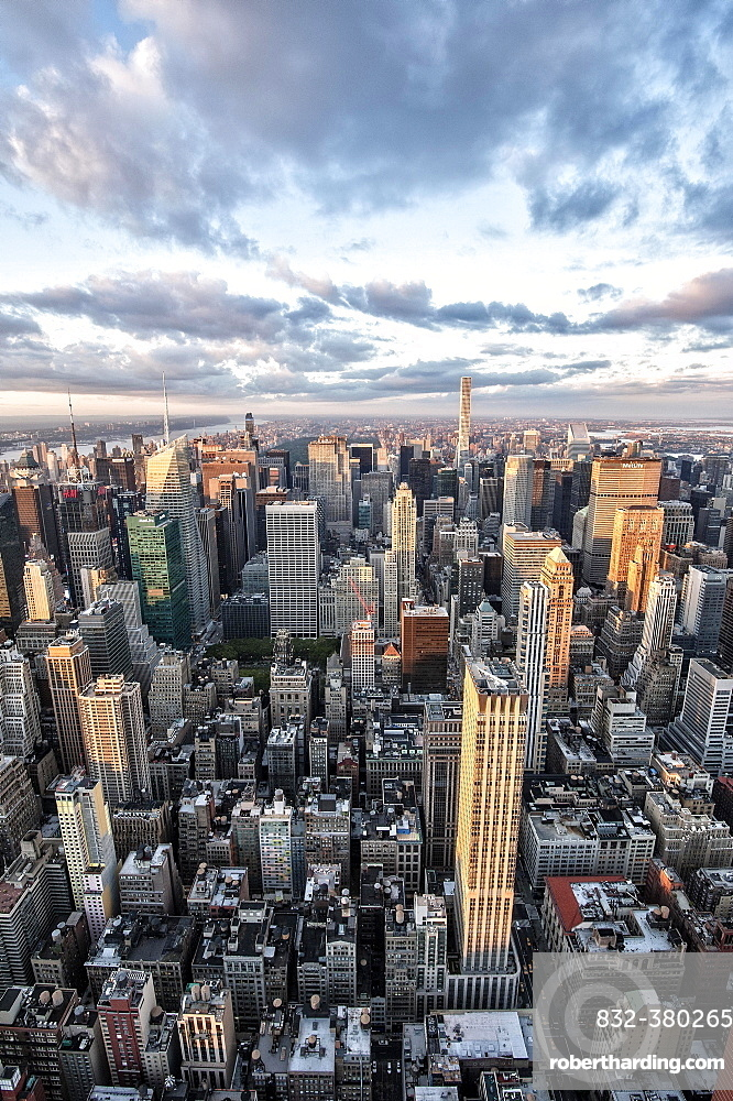 View of Midtown Manhattan skyscrapers from The Empire State Building, New York City, USA, North America