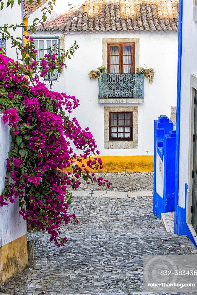 Alleyway, Obidos, Leiria District, Portugal, Europe
