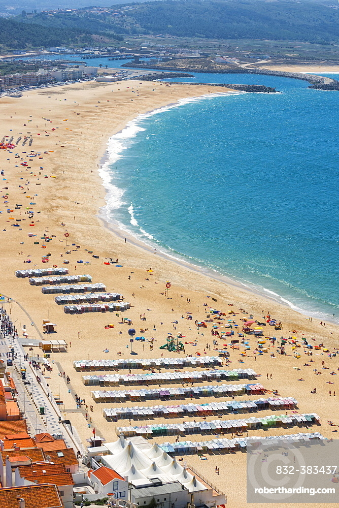 Nazare beach, Estremadura and Ribatejo, Portugal, Europe
