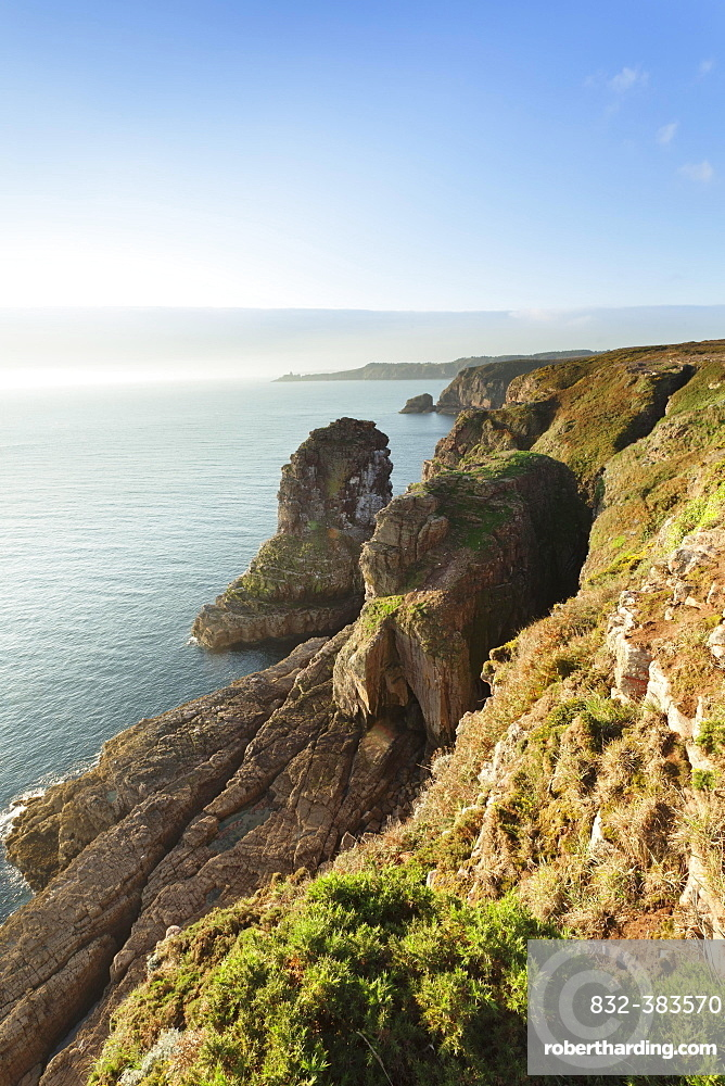 Cliffs on Cap Frehel, Brittany, France, Europe