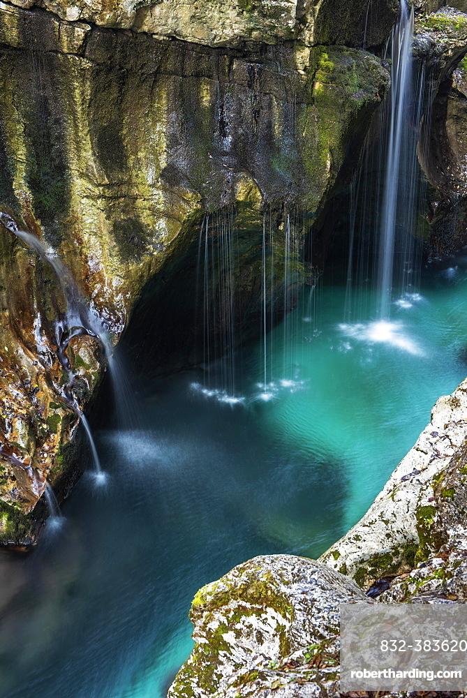 River course in Soca Canyon, Bovec, Slovenia, Europe