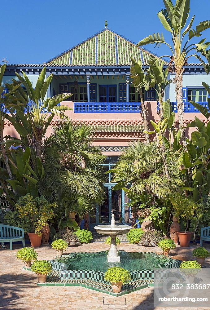 Jardin Majorelle Botanical Garden, Marrakech, Morocco, Africa