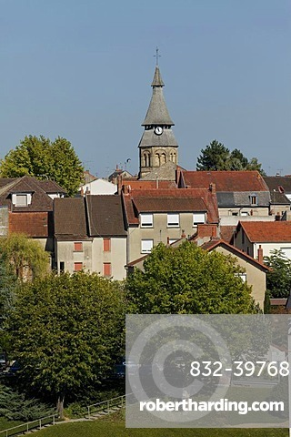 Thermal city of Neris les Bains, Allier, France, Europe