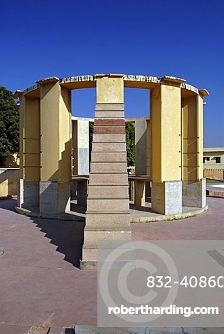 Jantar Mantar, a collection of architectural astronomical instruments, built by Maharaja Jai Singh II in the Pink City of Jaipur, Kanota, Rajasthan, India, Asia