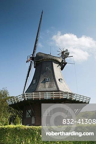 Windmill, Wyk auf Foehr, Foehr Island, North Frisia, North Sea, Schleswig-Holstein, Germany, Europe, PublicGround