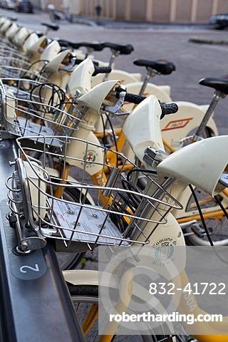 Rental bikes, Milan, Italy, Europe