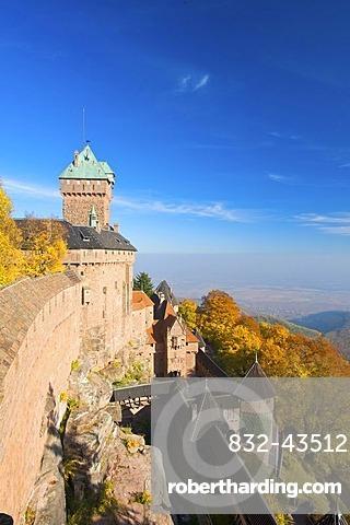 Haut-Koenigsbourg, castle, Alsace, France, Europe