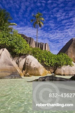 Pointe Source D'Argent, La Digue, Seychelles, Africa, Indian Ocean