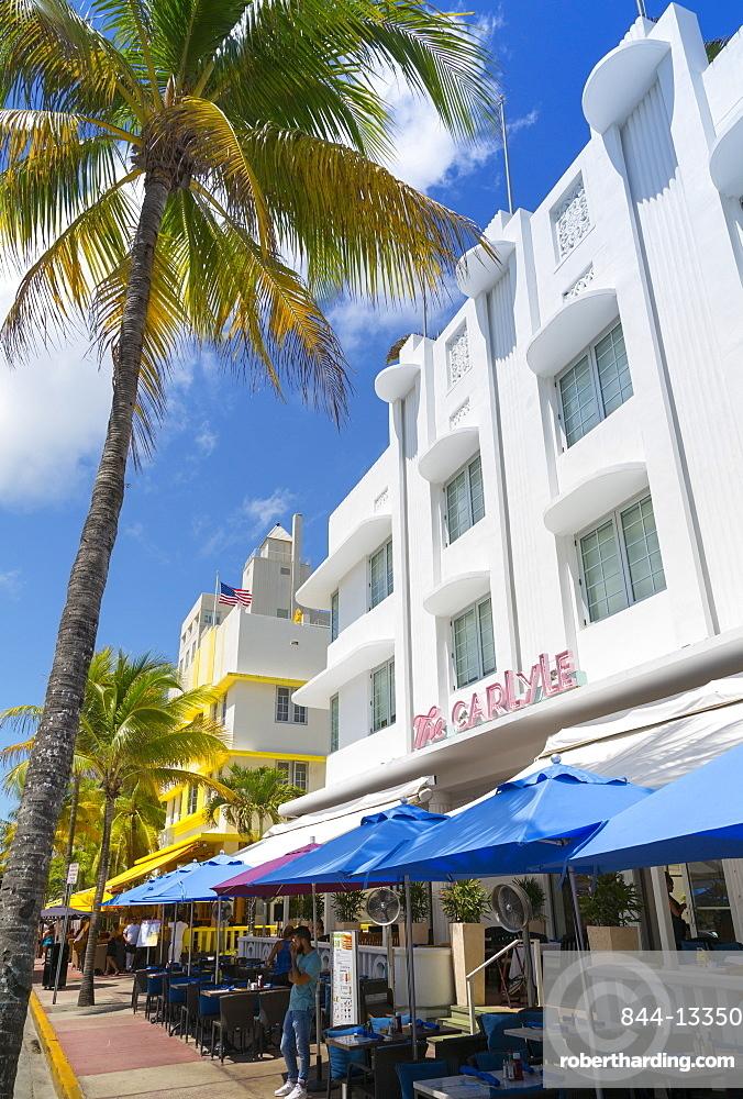 Art Deco architecture on Ocean Drive, Miami Beach, Miami, Florida, United States of America, North America