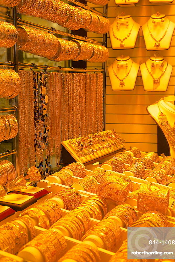 Gold in the Gold Souk, Dubai, United Arab Emirates, Middle East