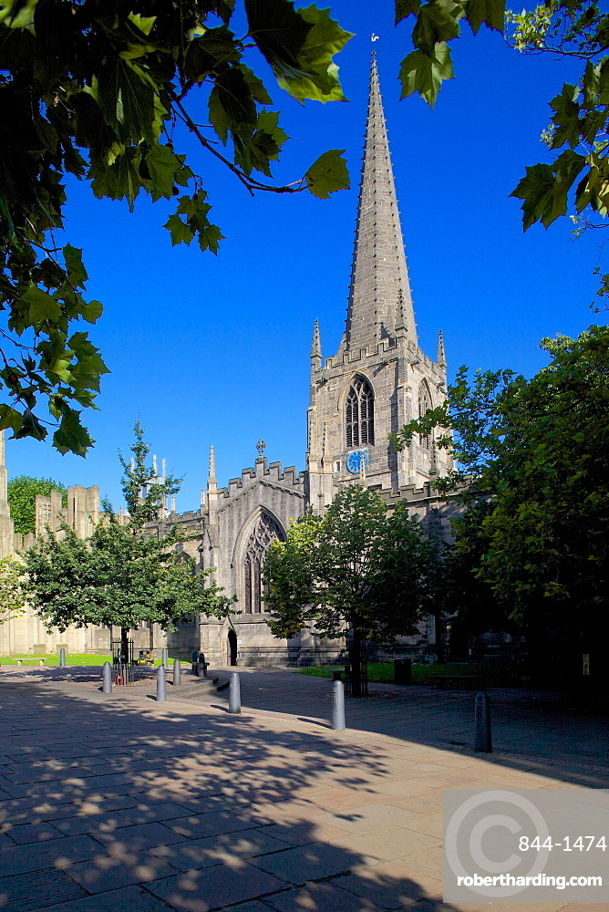 Sheffield Cathedral, Sheffield, South Yorkshire, Yorkshire, England, United Kingdom, Europe