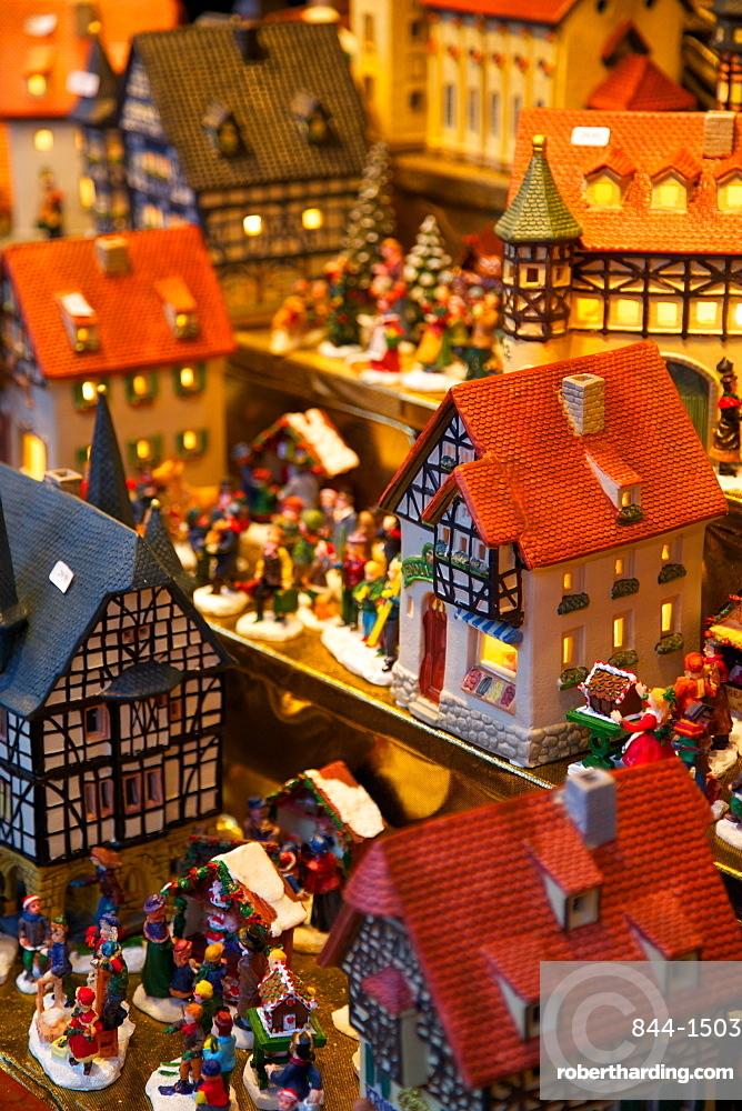 Christmas ornaments for sale at the Christmas Market, Dortmund, North Rhine-Westphalia, Germany, Europe