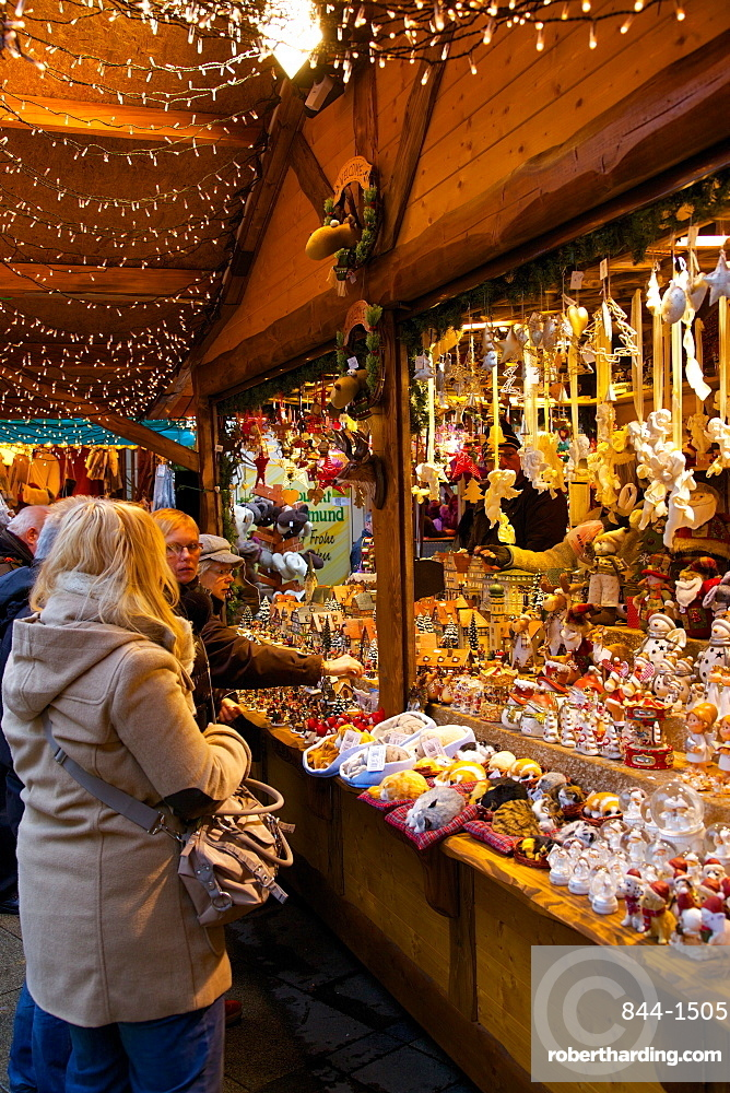 Christmas Market Stall Dortmund North Stock Photo