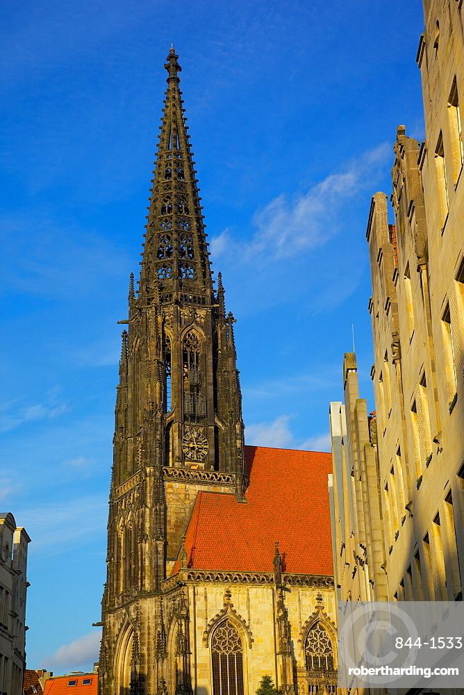 St. Lambert's Church on Prinzipalmarkt, Munster, North Rhine-Westphalia, Germany, Europe