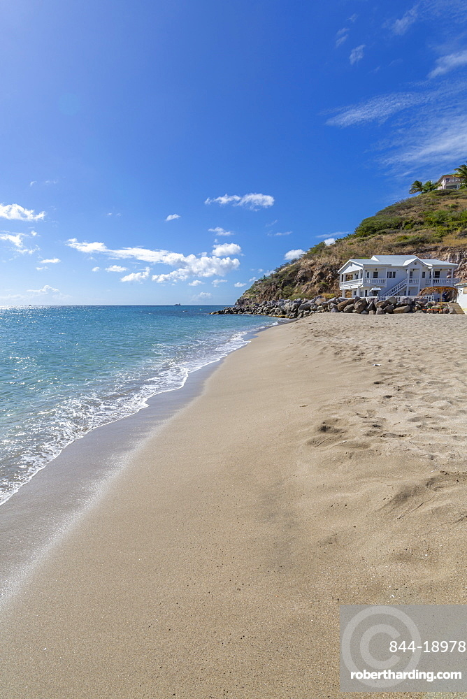 View of Frigate Bay Beach, Basseterre, St. Kitts and Nevis, West Indies, Caribbean, Central America
