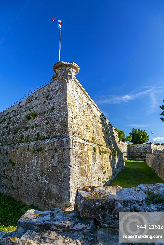View of the Venetian fortress Pula, Istria County, Croatia, Adriatic, Europe