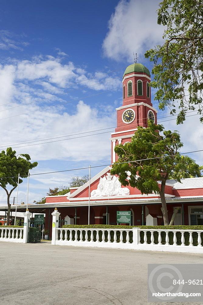 The Garrison Savannah, Clock Tower, Bridgetown, Christ Church, Barbados, West Indies, Caribbean, Central America