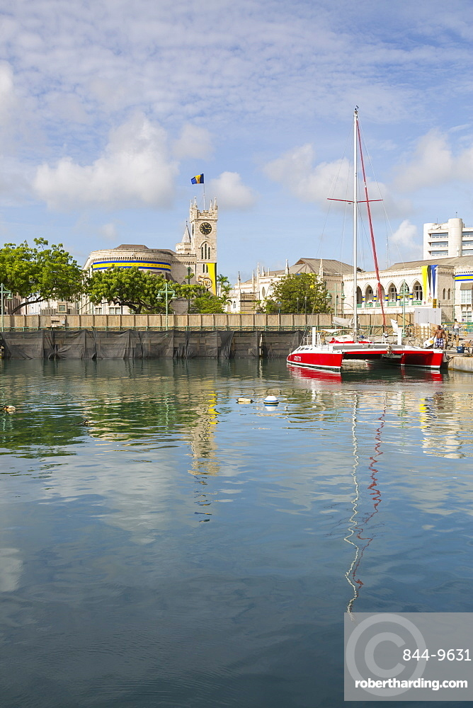 Parliament Building and Constitution River, Bridgetown, St. Michael, Barbados, West Indies, Caribbean, Central America