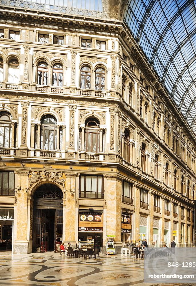 Interior of Galleria Umberto I, Naples, Campania, Italy, Europe