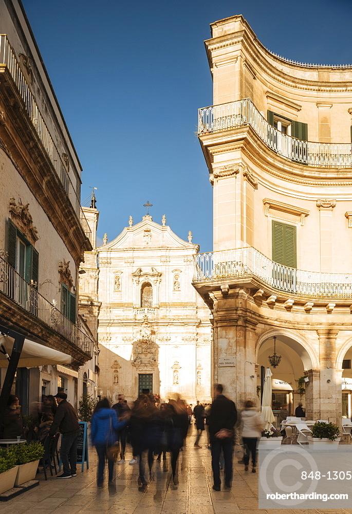 Exterior of Basilica di San Martino, Centro Storico, Martina Franca, Puglia, Italy, Europe