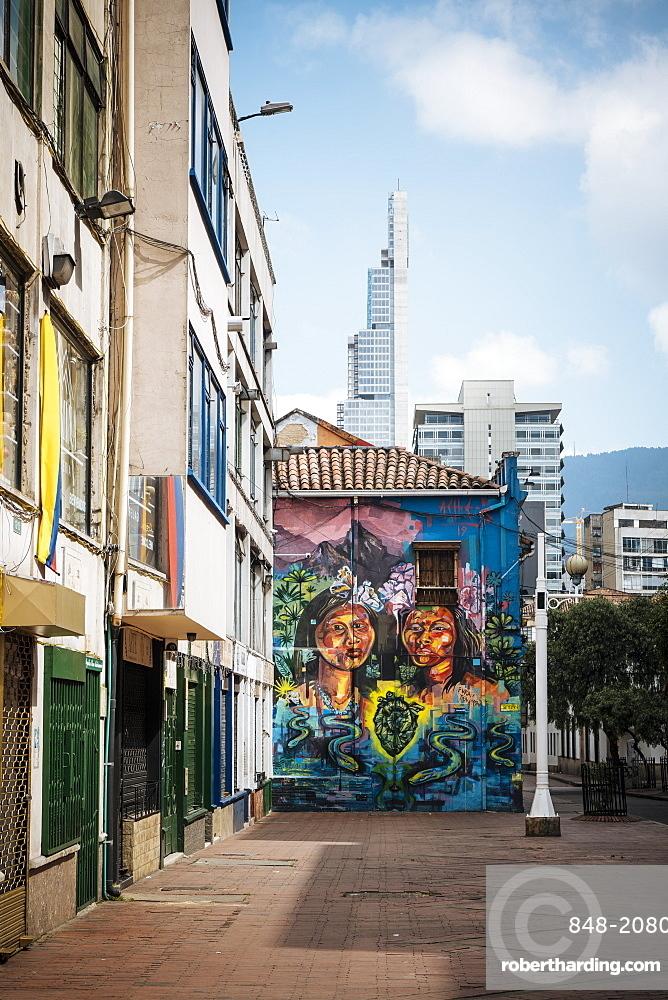 Wall Mural, Bogota, Cundinamarca, Colombia, South America