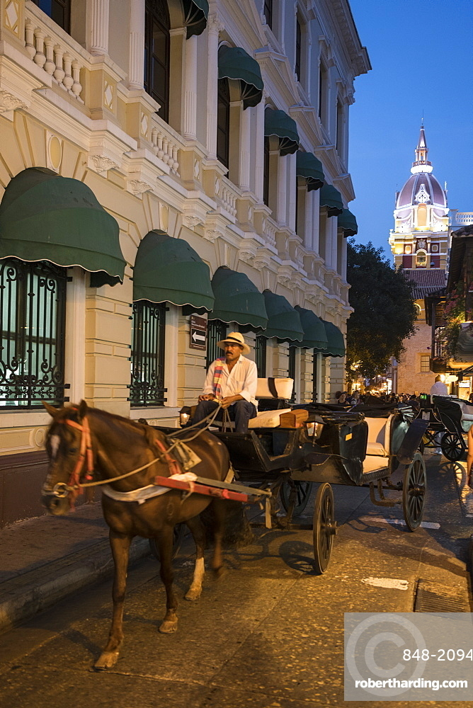Carriages, Cartagena, Bolivar Department, Colombia, South America