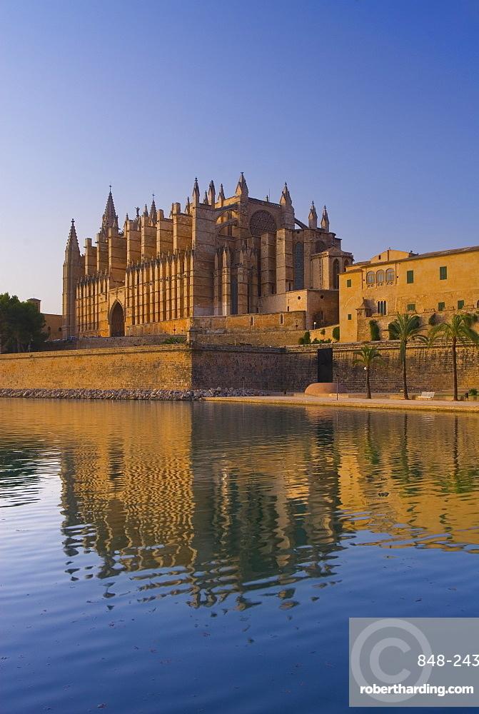 Palma Cathedral, Palma, Mallorca, Balearic Islands, Spain, Mediterranean, Europe