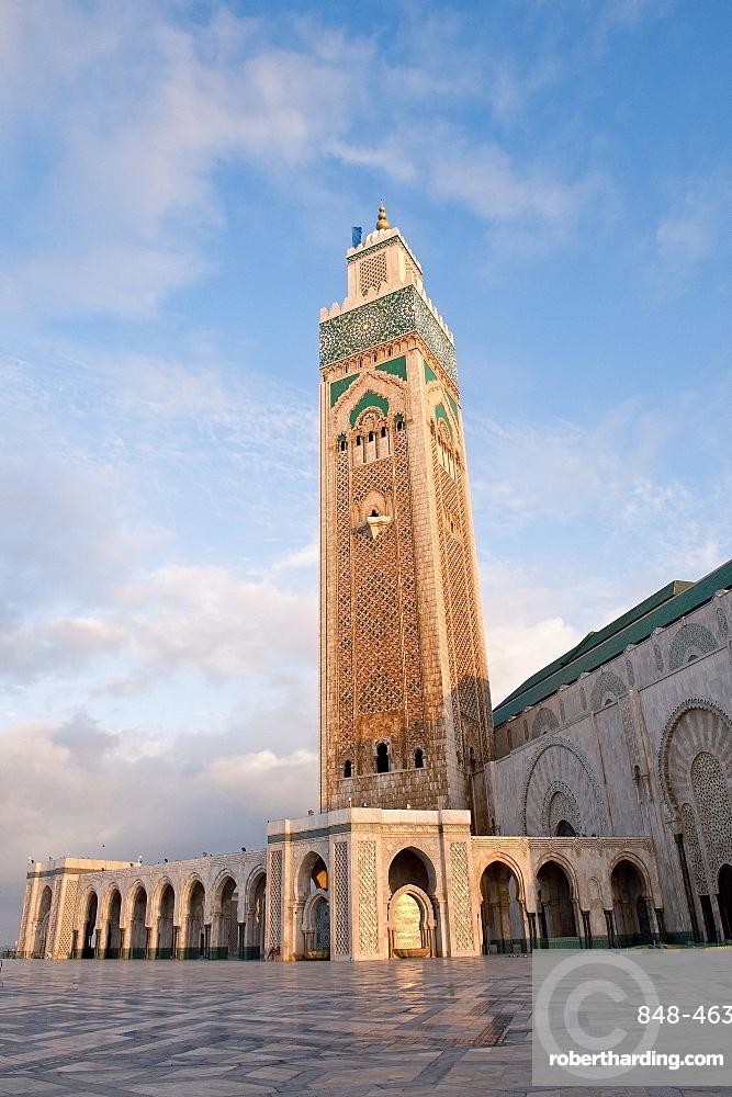 Exterior of Hassan II Mosque, Casablanca, Morocco, North Africa, Africa