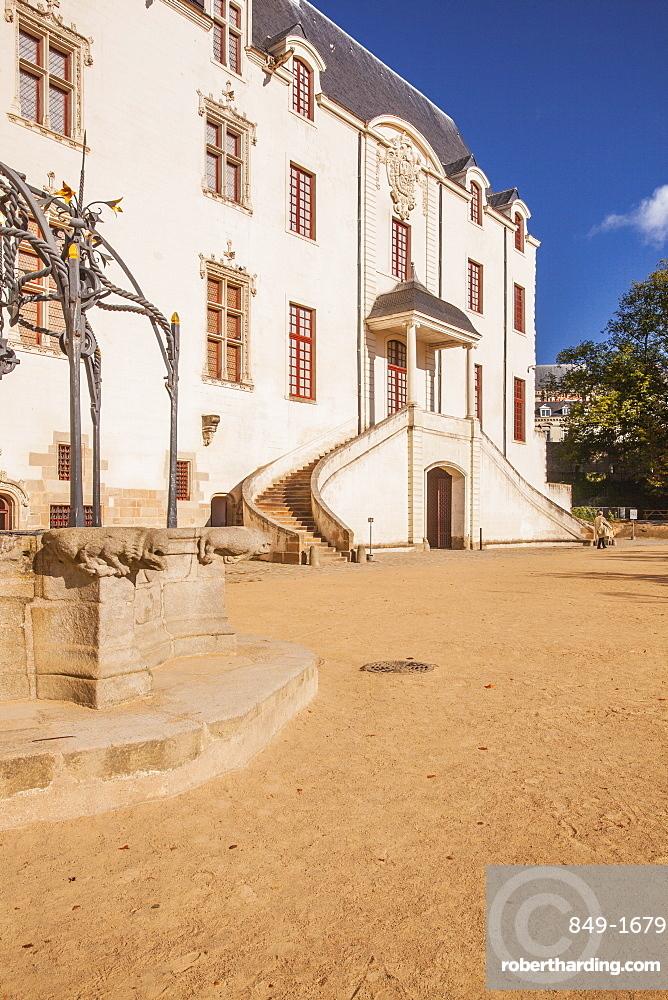 The Chateau des Ducs de Bretagne in the city of Nantes, Pays de la Loire, Loire Atlantique, France, Europe