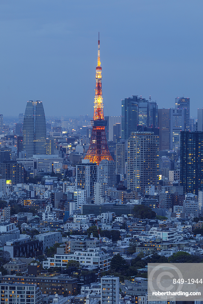 The Tokyo Tower in central Tokyo, Japan, Asia