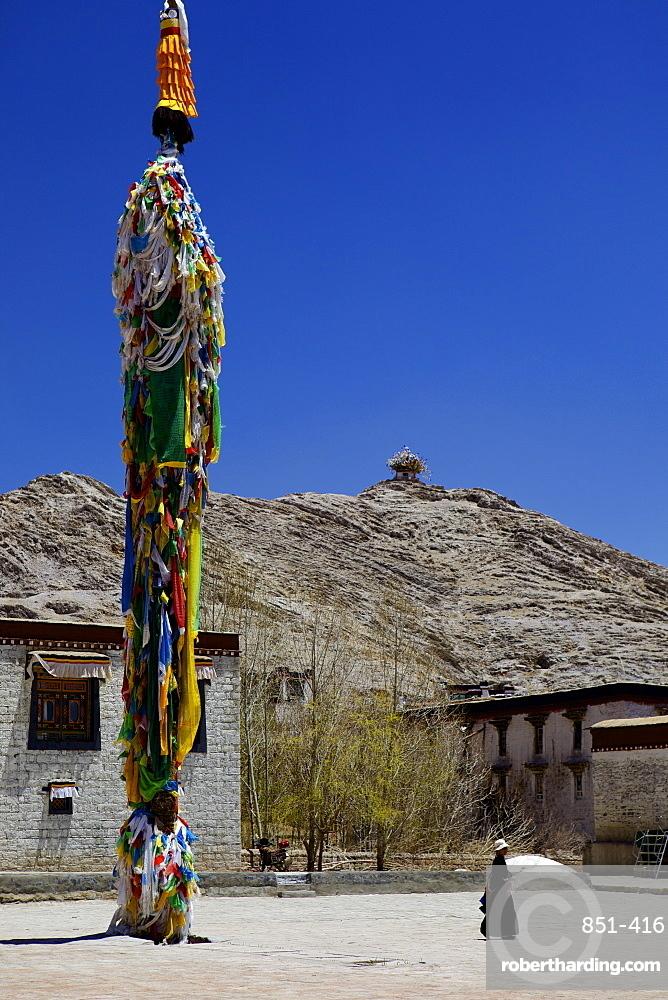 Courtyard in Palcho Monastery, Gyantse, Tibet, China, Asia