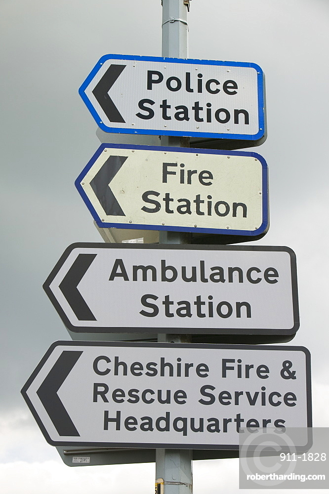 Signs in Cheshire, England, United Kingdom, Europe